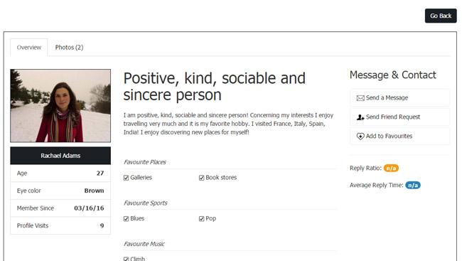 dating site scrie profil