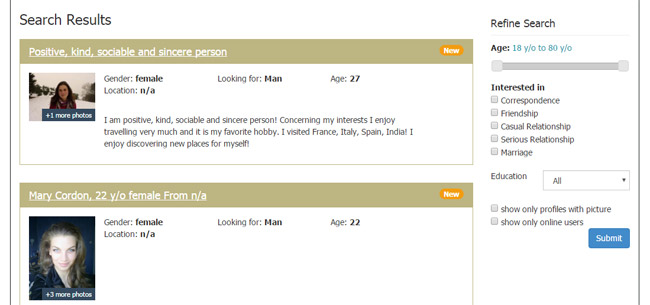 Speciale ed dating site