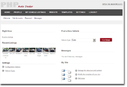 php auto dealer front site demo