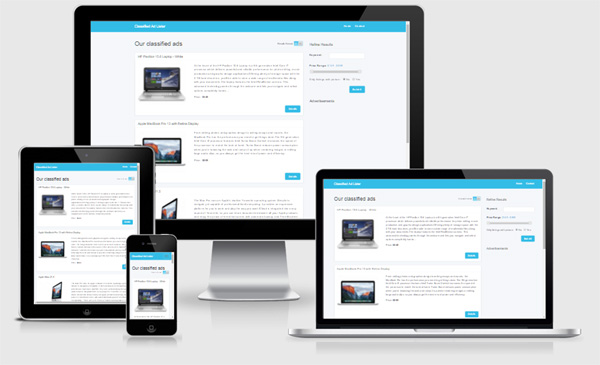 responsive free php classified ads script