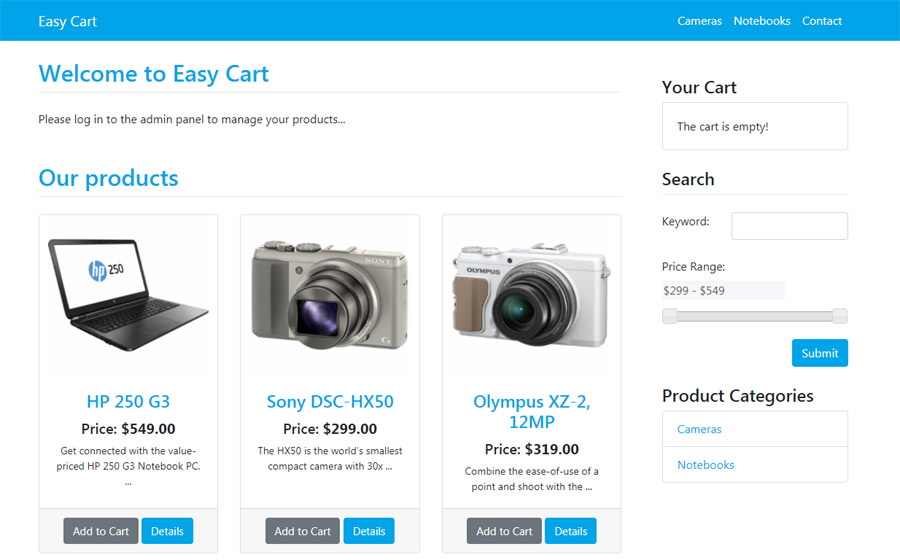 free php software e-commerce