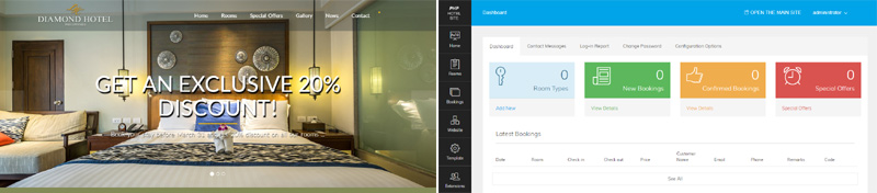 New software added - PHP Hotel Site
