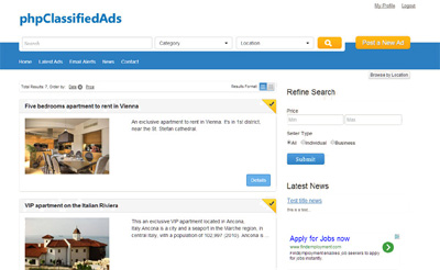 php classified ads software version 4