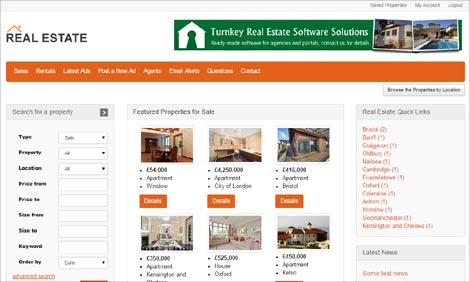 New responsive real estate portal php script