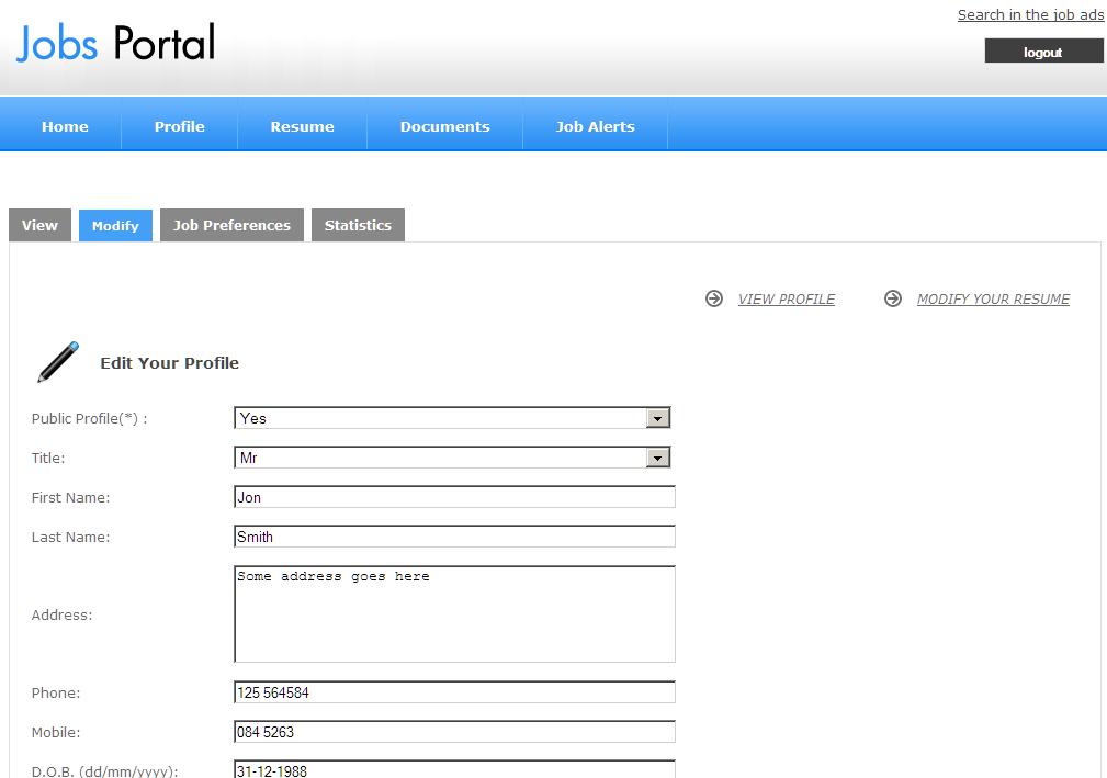 Job Seekers Admin Panel Jobs Portal Software Best Script