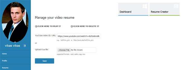 resume php script