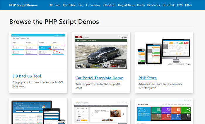 Check a collection of 63 different demos and scripts of ours on one page