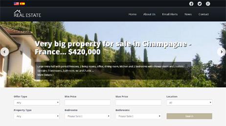 real estate portal template demo 3