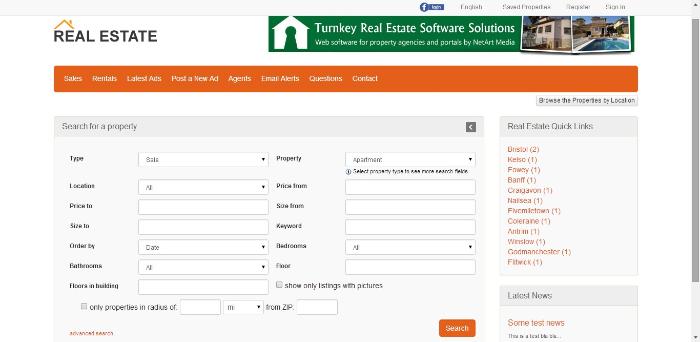 Advanced property search murney responsive php real estate for Advanced home search
