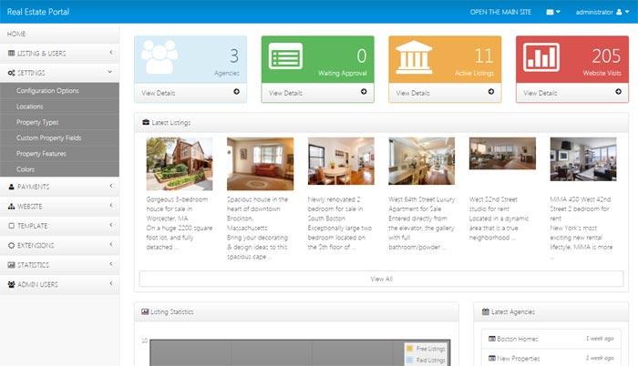 real estate php multi agents software portal imobili rio