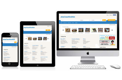 responsive php classified ads script
