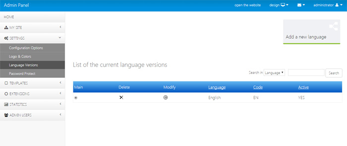 adding new languages on the website job site php script